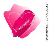 brush strokes in bright pink...   Shutterstock .eps vector #1077130151