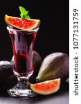 Small photo of Fig liqueur, fig brandy and fresh figs