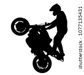 silhouettes rider participates... | Shutterstock .eps vector #1077135431