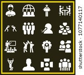 set of 16 people filled icons...   Shutterstock .eps vector #1077140117