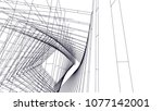 architectural drawing 3d | Shutterstock .eps vector #1077142001