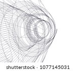 abstract architecture vector 3d ... | Shutterstock .eps vector #1077145031