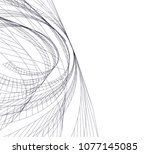 abstract architecture vector 3d ... | Shutterstock .eps vector #1077145085