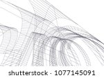 abstract architecture vector 3d ... | Shutterstock .eps vector #1077145091