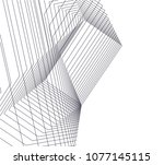 abstract architecture vector 3d ... | Shutterstock .eps vector #1077145115
