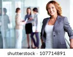 business lady with positive... | Shutterstock . vector #107714891