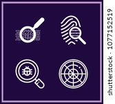 set of 4 searching outline... | Shutterstock .eps vector #1077152519