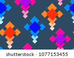 seamless pattern of the... | Shutterstock .eps vector #1077153455