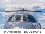 private jet shinny windshield | Shutterstock . vector #1077159341