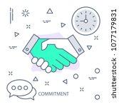 commitment modern flat color... | Shutterstock .eps vector #1077179831