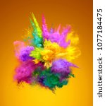 bright colorful explosion of... | Shutterstock . vector #1077184475