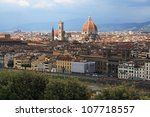 view of florence with duomo | Shutterstock . vector #107718557