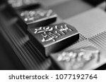 piece of shogi  made of... | Shutterstock . vector #1077192764
