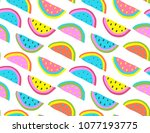fun colorful summer mood... | Shutterstock .eps vector #1077193775