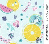 fresh seamless pattern with...   Shutterstock .eps vector #1077194504