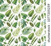 watercolor seamless pattern... | Shutterstock . vector #1077205259