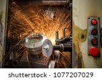 metal sawing close up | Shutterstock . vector #1077207029