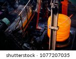 rolling mill in the factory | Shutterstock . vector #1077207035