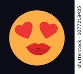 emotion love vector icon   Shutterstock .eps vector #1077218435