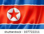 North Korea Flag  Three...