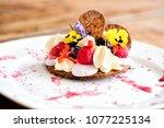 dessert gourmet cake | Shutterstock . vector #1077225134