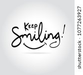 keep smiling typography vector...   Shutterstock .eps vector #1077263927
