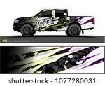 pickup truck graphic vector.... | Shutterstock .eps vector #1077280031