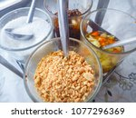 condiments rack containing the... | Shutterstock . vector #1077296369