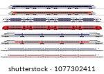 passenger train. railway... | Shutterstock .eps vector #1077302411