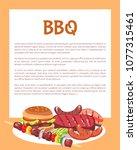 bbq vector illustration  roast...   Shutterstock .eps vector #1077315461