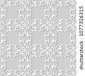 3d white paper art curve spiral ... | Shutterstock .eps vector #1077326315