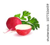 fresh  nutritious  tasty red...   Shutterstock .eps vector #1077326459