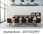 contemporary conference room... | Shutterstock . vector #1077331997