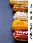dessert cakes sweet eclairs... | Shutterstock . vector #1077333467