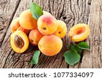 Ripe Apricots And Apricot...
