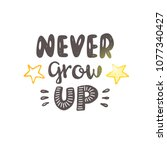 never grow up. logo  icon and... | Shutterstock .eps vector #1077340427