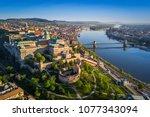 budapest  hungary   beautiful... | Shutterstock . vector #1077343094