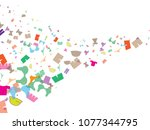 abstract background for summer... | Shutterstock .eps vector #1077344795