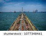 motor tankers vessel at... | Shutterstock . vector #1077348461