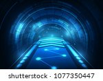 hi tech speed connection... | Shutterstock .eps vector #1077350447