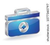 medic box 3d glossy vector icon ...   Shutterstock .eps vector #1077360797