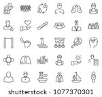 thin line icon set   super... | Shutterstock .eps vector #1077370301