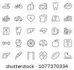 thin line icon set   cheese...   Shutterstock .eps vector #1077370334