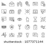 thin line icon set   badge... | Shutterstock .eps vector #1077371144