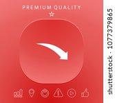 arrow down icon | Shutterstock .eps vector #1077379865