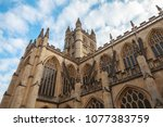 abbey church of st.peter and st.... | Shutterstock . vector #1077383759