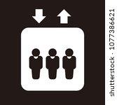 elevator vector icon  | Shutterstock .eps vector #1077386621