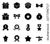 solid vector icon set   gift... | Shutterstock .eps vector #1077398717