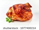 a crispy  golden roasted pork... | Shutterstock . vector #1077400214