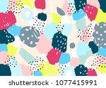brush  marker  highlight ... | Shutterstock .eps vector #1077415991